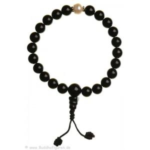 Hand-Mala schwarzer Onyx mit Perlen
