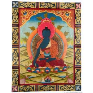 Kloster-Thangka Medizinbuddha