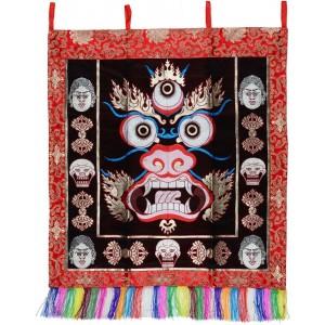Wandbehang - Mahakala 40 cm x 47 cm