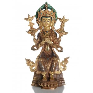 Maitreya teilfeuervergoldet 24 cm SALE