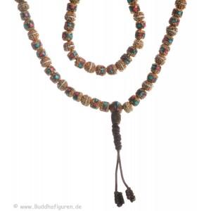 Mala Rudraksha beads 8mm Mosaik