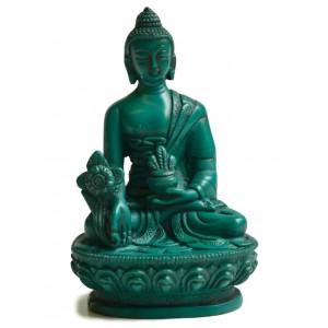 Medizinbuddha 13,5 cm Buddha Statue türkis