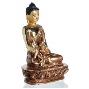 Medizinbuddha 14 cm teil feuervergoldet Buddha Statue