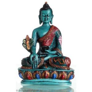 Medizinbuddha 13,5 cm Buddha Statue türkis bemalt