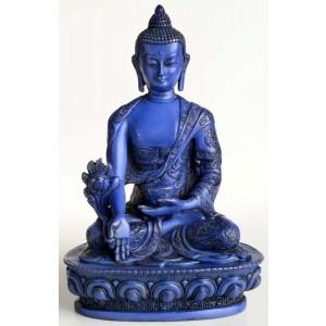 Medizinbuddha 13,5 cm Buddha Statue blau