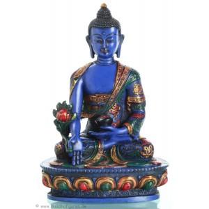 Medizinbuddha 20 cm Buddha Statue  bemalt BLAU