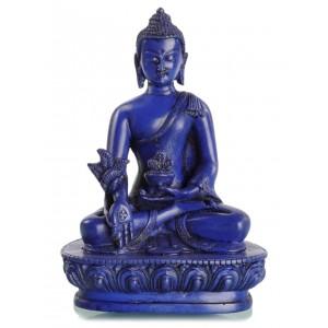 Medizinbuddha 13,5 cm Buddha Statue blau 2