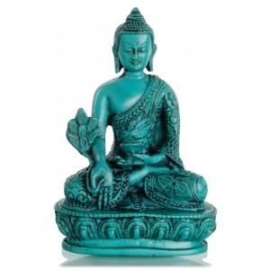 Medizinbuddha 13,5 cm Buddha Statue türkis 2