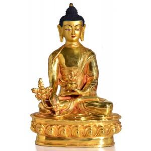 Medizinbuddha 20 cm voll feuervergoldet Buddha Statue