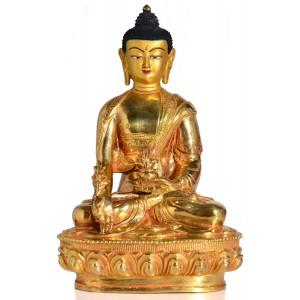 Medizinbuddha 20 cm voll feuervergoldet Buddha Statue 2