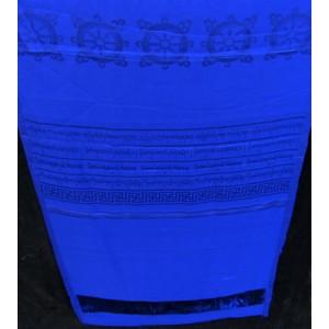 Khata, Kata - Zeremonienschal blau