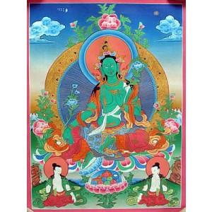 Thangka - Grüne Tara