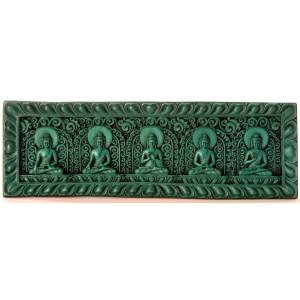 Meditationsbuddha Tafel braun / türkis