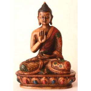 Amoghasiddhi Buddha Statue 13,5 cm Resin bemalt
