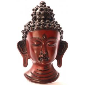 Buddha Maske 15 cm Resin braun