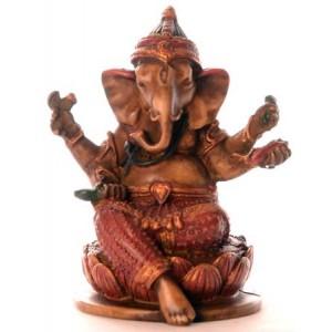 Ganesh Statue 10 cm Resin bemalt