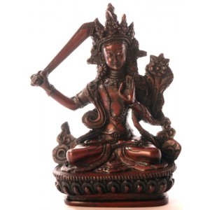 Manjushri Buddha Statue 15 cm  Resin