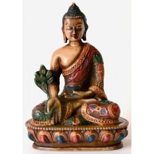 Medizinbuddha 13,5 cm Buddha Statue bemalt