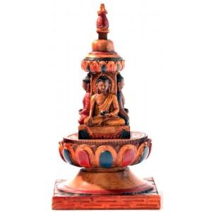 Stupa - Chörten 15 cm Resin bemalt