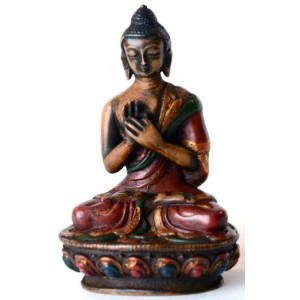 Vairocana Buddha Statue 11,5 cm Resin bemalt