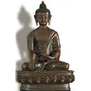 Akshobhya /Shakyamuni 21 cm oxidiert Buddhastatue