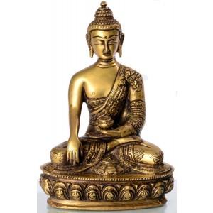 Akshobhya / Shakyamuni 20 cm Messing Buddhastatue