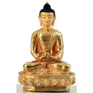 Amitabha  20 cm vollfeuervergoldet Buddhastatue