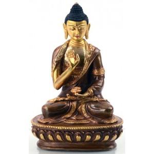 Amoghasiddhi 15 cm teilfeuervergoldet Buddha Statue