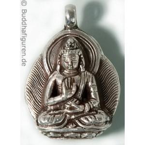 Silberschmuckanhänger Amoghasiddhi 25 mm