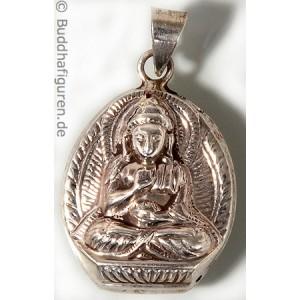 Silberschmuckanhänger Amoghasiddhi 28 mm