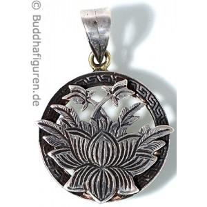 Silberschmuckanhänger Lotus 25 mm