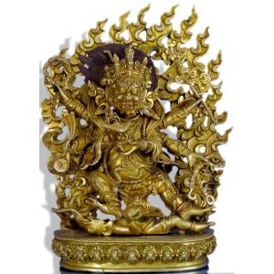 Mahakala black  31 cm antik-vollfeuervergoldet Replica Buddha