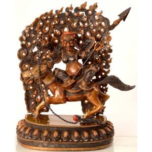 Chamar Buddha Statue  35 cm zweifarbig
