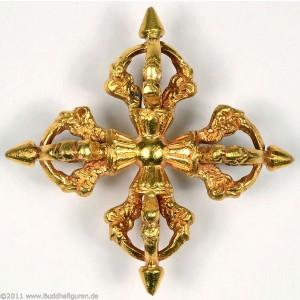Vishvavajra feuervergoldet 9,5 cm