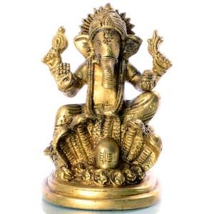 Ganesh mit Lingam - 12cm