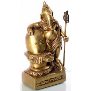 Ganesh mit Lingam 15 cm