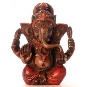 Ganesh Statue 8 cm Resin bemalt