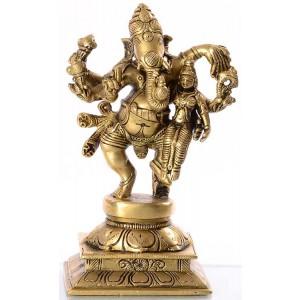 Ganesh mit Shakti  -  16 cm