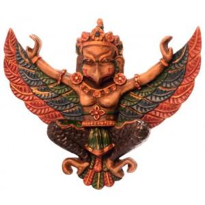Garuda Maske Resin bemalt klein