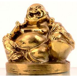 Lachender Buddha Statue 4 cm