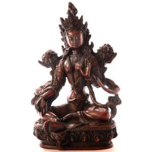 Grüne Tara Statue 20 cm Resin