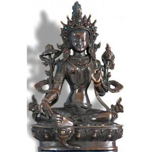 Grüne Tara  22 cm oxidiert   Statue