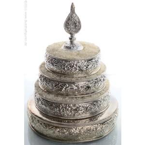 Mandala Messing versilbert