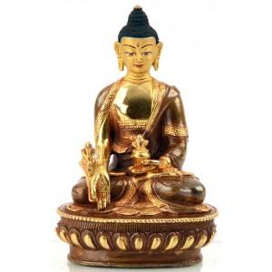 Medizinbuddha 15 cm teil feuervergoldet Buddha Statue