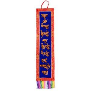 Wandbehang -  Medizinbuddha  Mantra 94 cm