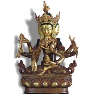Vijaya / Unshinisvijaya / Namgyelma 24 cm teilfeuervergoldet