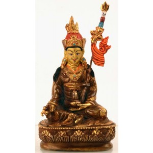 Padmasambhava  Guru Rinpoche14 cm teilfeuervergoldet