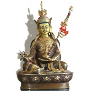 Guru Rinpoche - Padmasambhava 22 cm teilfeuervergoldet