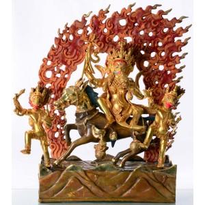 Palden Lhamo - Devi Lhamo 42 cm feuervergoldet
