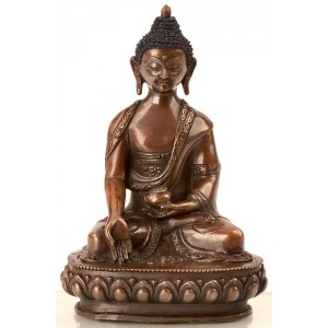 Ratnasambhava 15 cm oxidiert Buddha Statue